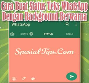 Cara Buat Status Teks WhatsApp Dengan Background Berwarna