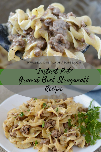Instant Pot Ground Beef Stroganoff Recipe