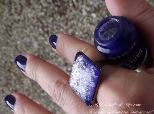 vernis bleu indigo, beauté, la bulle de cicirena 2013