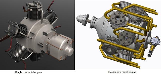single row and double row radial engine
