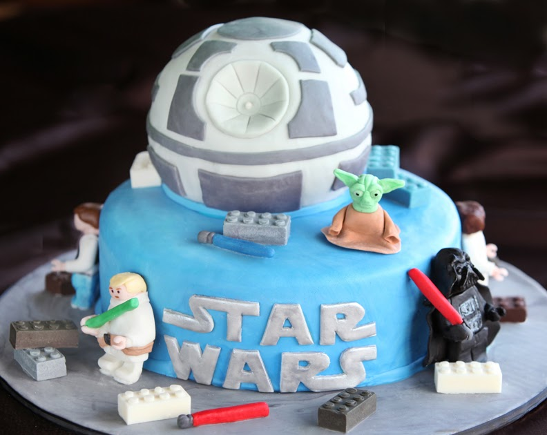 Cakes By Setia Death Star Lego Cake With Fondant Star