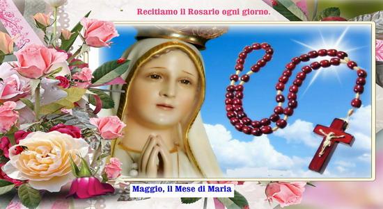 ❀ Maggio mese dedicato a Maria Santissima, recitiamo il rosario ogni giorno
