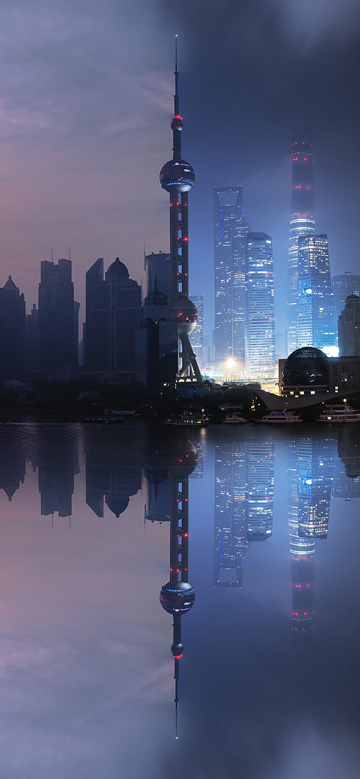 Shanghai City Buildings Landscape Scenery 4k Wallpaper 88
