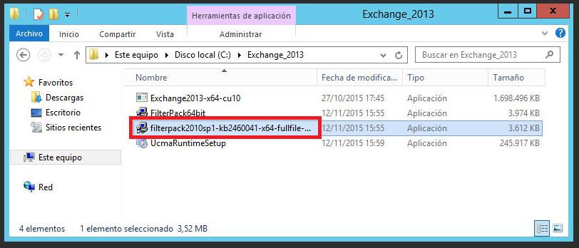 Pantallazos es: Microsoft Exchange: Migrar un servidor 2010