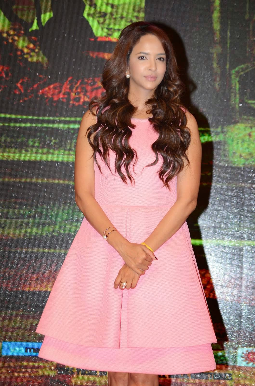 Actress Manchu Lakshmi Latest Cute Hot Pink Short Dress Spicy Thighs Show Photos Gallery At Yevade Subramanyam Movie Audio Launch