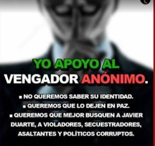 Redes sociales llaman a no denunciar a vengadores anónimos
