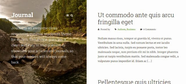 Journal - Responsive WordPress Theme