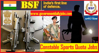BSF Sports Quota Recruitment 2019 of 63 Constable GD Posts
