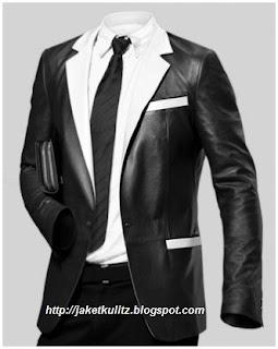 Gambar Jaket Kulit Formal Pria Model Kantoran