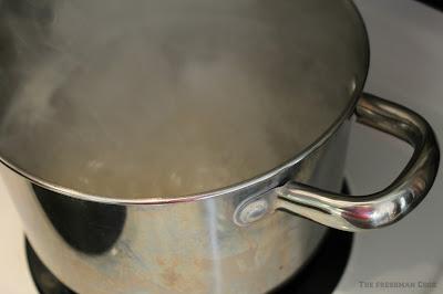 Boiling ravioli's