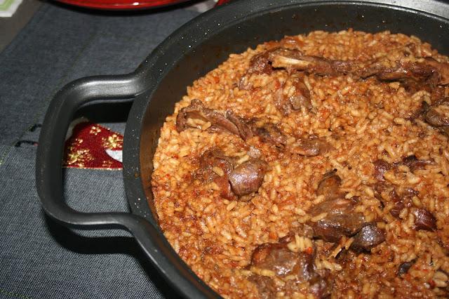 arroz con conejo de monte