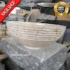 Wastafel marmer tulungagung bulat kombinasi motif asli batualam diameter 40 cm