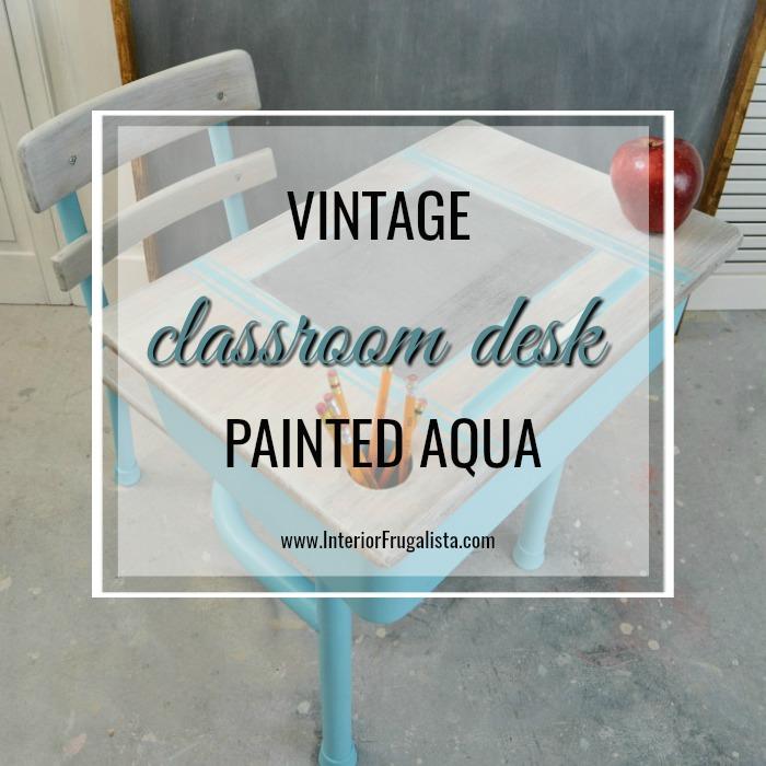 Vintage Metal Classroom Desk