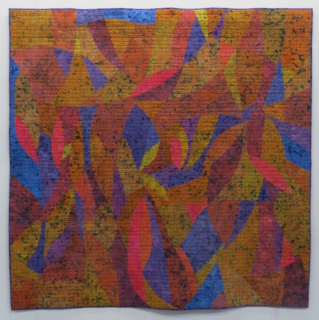 Purple Edge by Janet Twinn - Birmingham Festival of Quilts 2018
