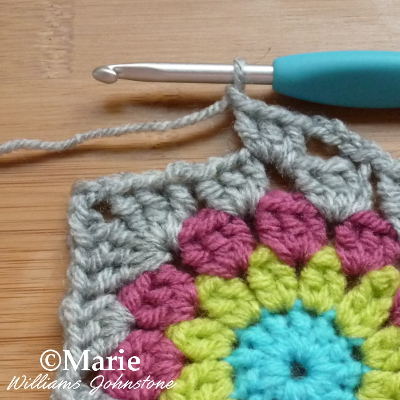 New round of double crochet
