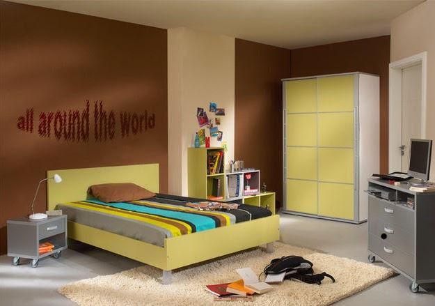 Ideas para pintar paredes de dormitorios plantilla for Cuarto universitario