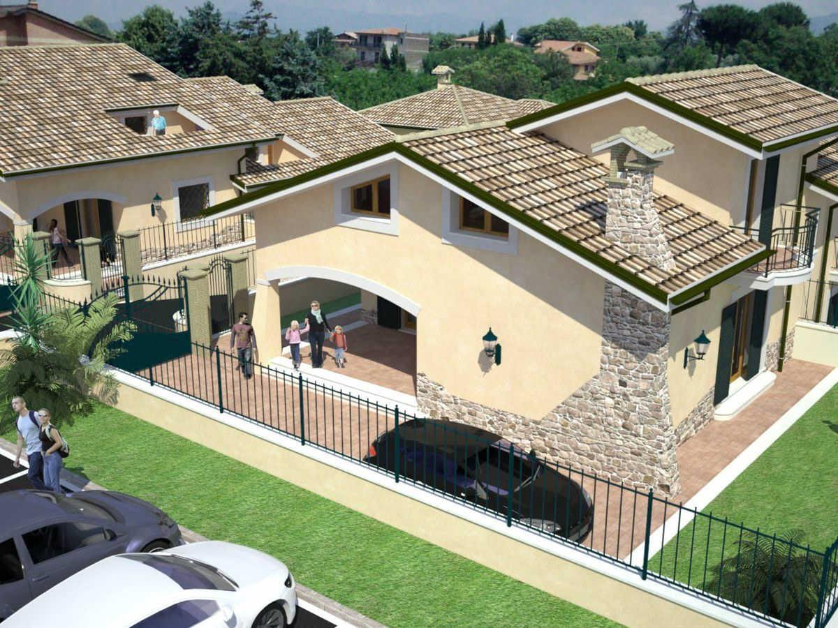 Fabio rosicarelli architetture villini bifamiliari nel for Progetto casa autocad