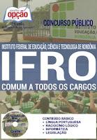 Apostila Concurso Instituto Federal de Rondônia 2016 comum a todos os cargos Técnico Administrativo do IFRO.