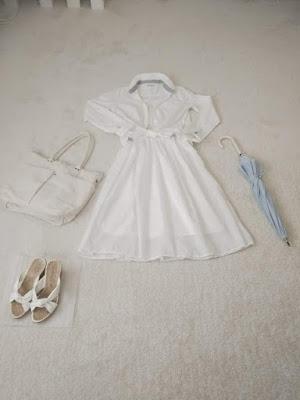 少ない服で着回す オールホワイトコーデ