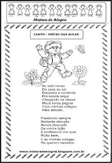 Atividades sobre volta às aulas-canto início das aulas