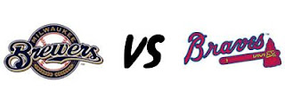 Image result for Milwaukee Brewers vs Atlanta Braves Live pic logo