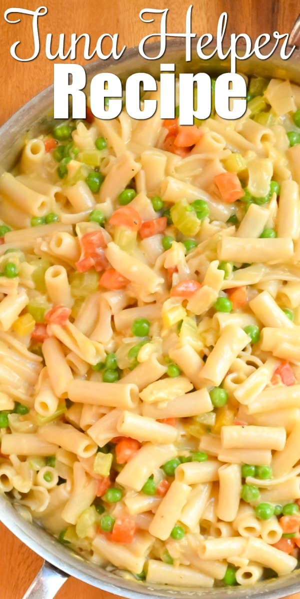 A favorite budget dinner recipe is Homemade Tuna Helper Recipe from scratch with a gluten free option. A favorite one pan dinner recipe from Serena Bakes Simply From Scratch.