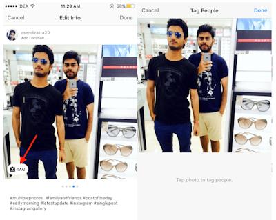 Anda Salah Tag? Begini Cara edit / tambah Tag di Instagram Setelah Memposting Banyak Gambar