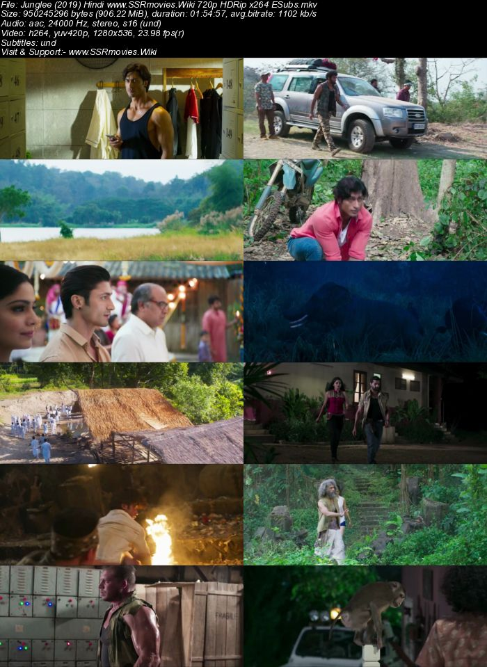 Junglee (2019) Hindi 720p HDRip x264 900MB ESubs Movie Download