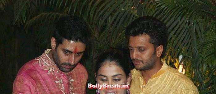 Abhishek Bachchan, Genelia D'Souza, Riteish Deshmukh, Photos from Amitabh Bachchan's Diwali Bash 2014