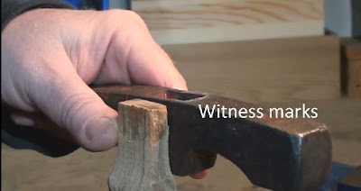 Comparing witness marks on handle