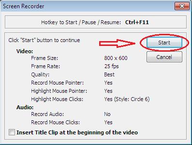 Quay video màn hình - H03