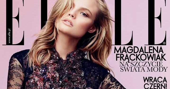 b6d73f27774cf Magdalena Frackowiak on Cover for Elle Poland September 2013