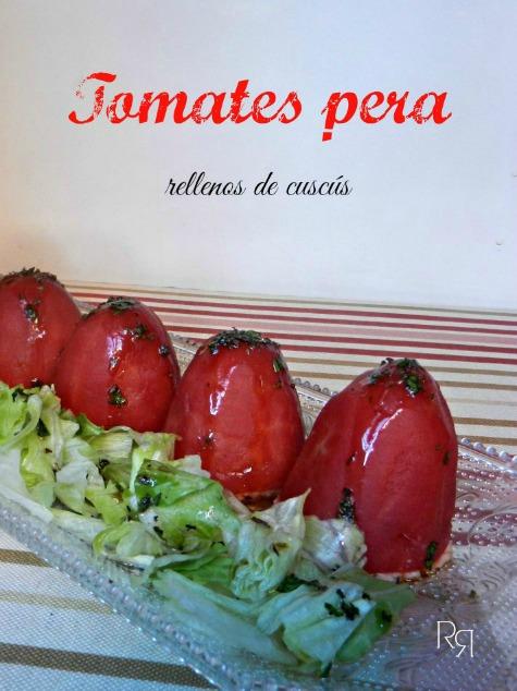 """""""Tomates pera rellenos de cuscus"""""""