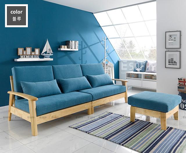 Sofa gỗ tự nhiên cho phòng khách đẹp