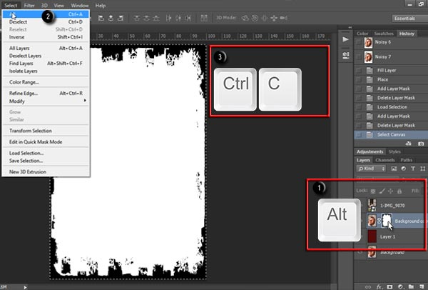 Copy layer mask to clipboard