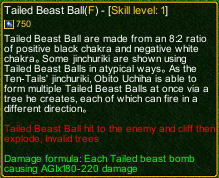 naruto castle defense 6.0 Tailed Beast Ball detail