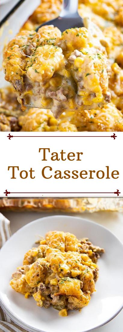 Tater Tot Casserole #healthyfood #dietketo