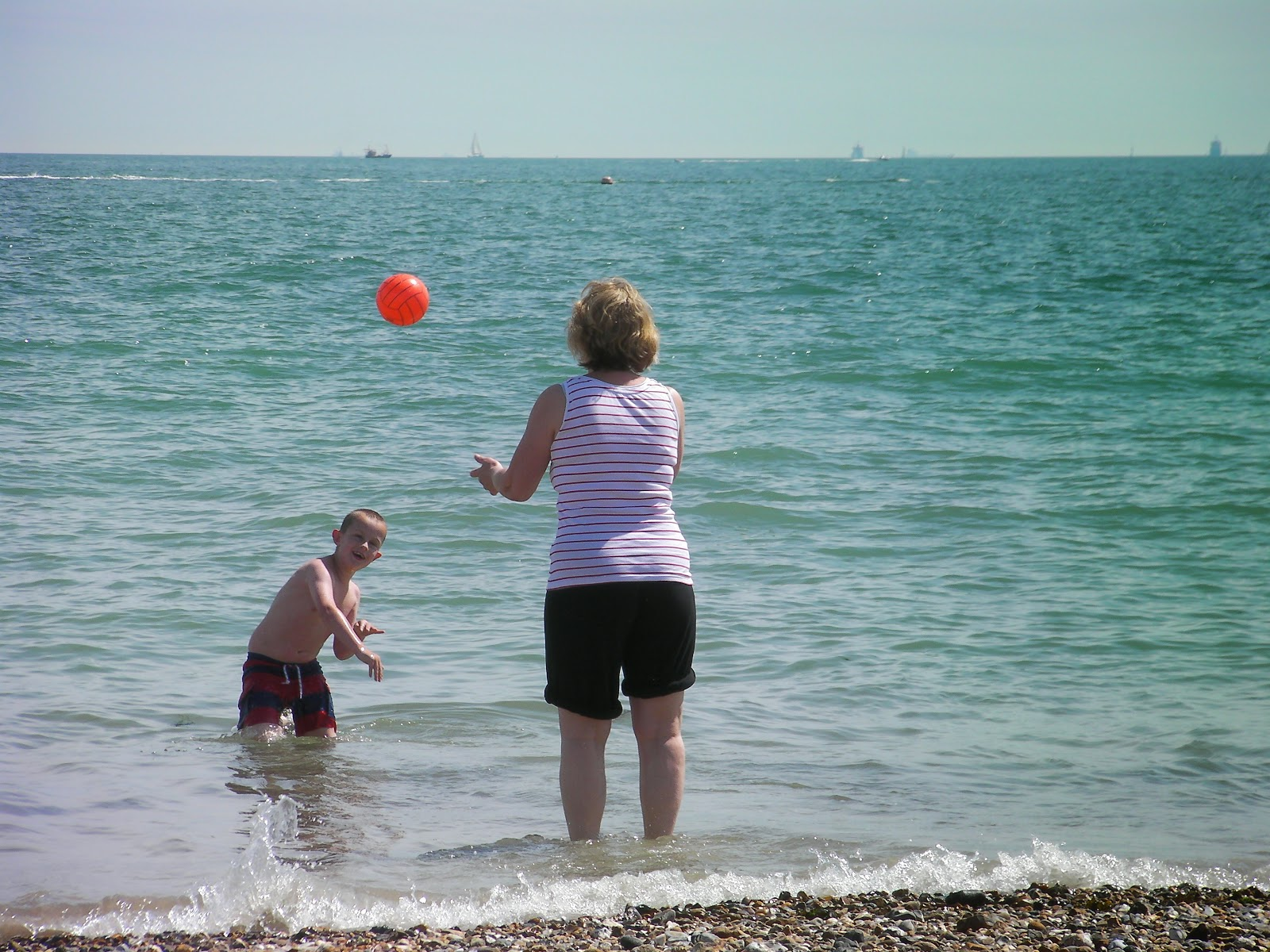 southsea beach in the summer