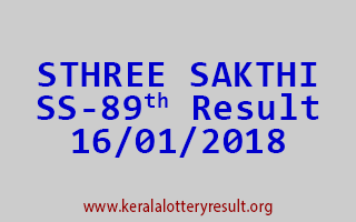 STHREE SAKTHI Lottery SS 89 Results 16-01-2018