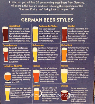 Types of German beer featured in Costco's Beer Advent Calendar
