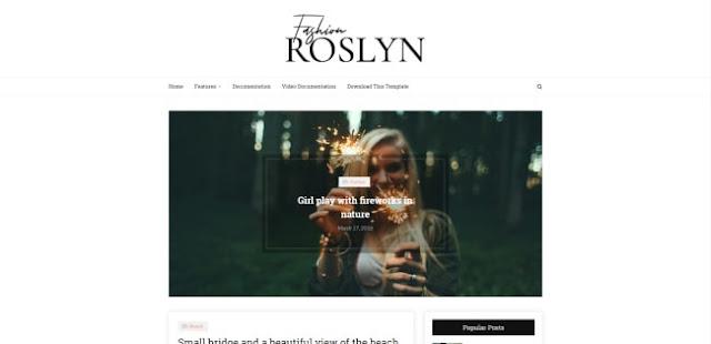 Roslyn Blogger Template