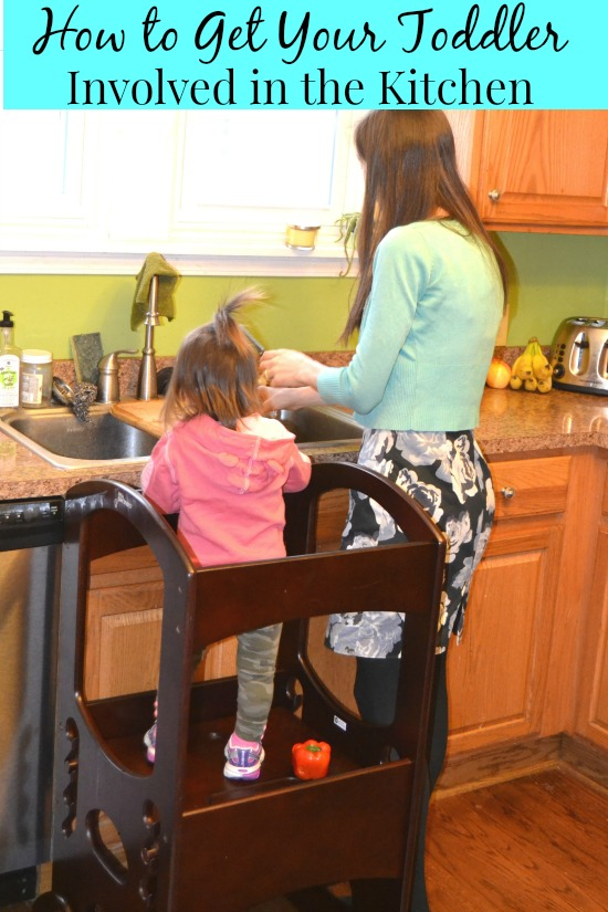 Tips and tricks to involve a toddler in the kitchen.