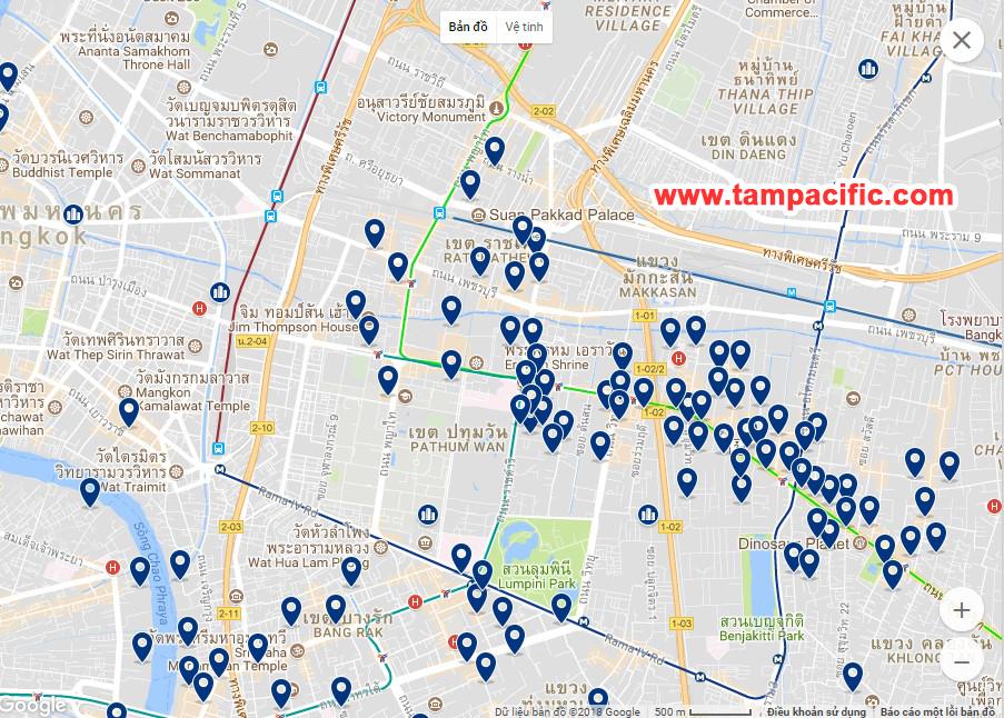 các khách sạn ngay thủ đô bangkok thái lan