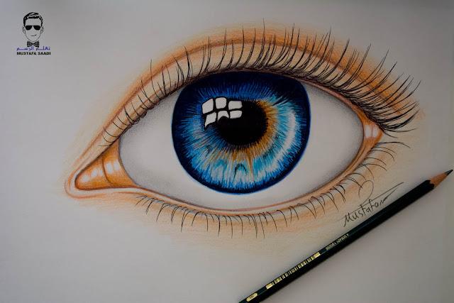 تعلم رسم العين خطوة بخطوة