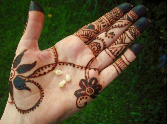 Henna Mehndi Latest Design : Latest floral henna mehndi designs for hands bling sparkle