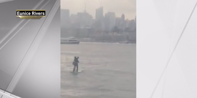 Running Late to Meeting, Man Paddleboards Across Hudson River in Business Suit, Dress Shoes