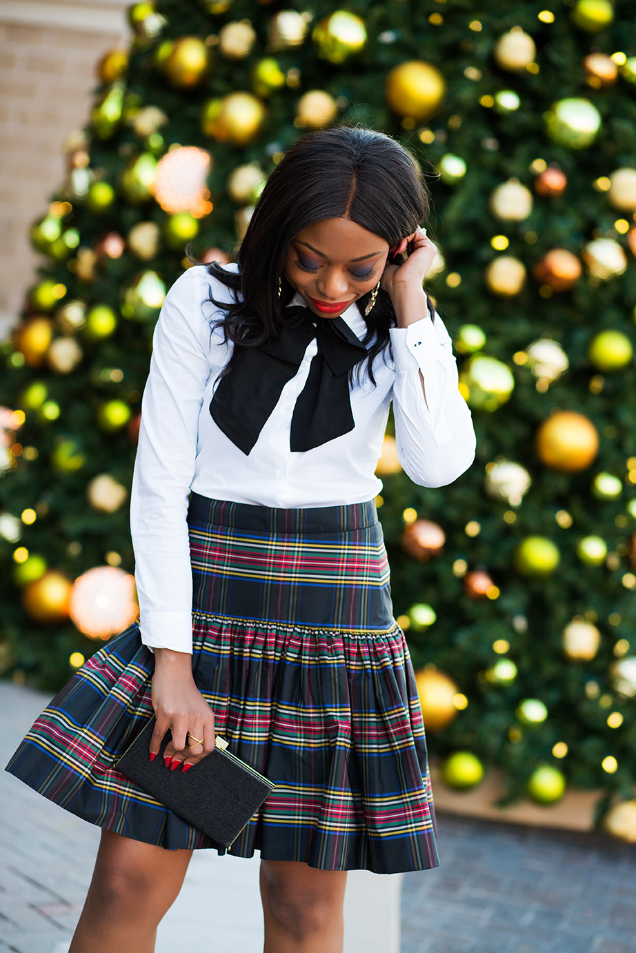 Plaid skirt, www.jadore-fashion.com