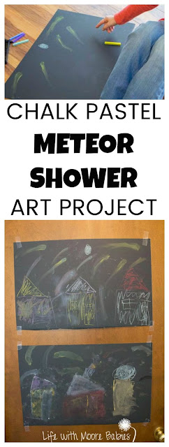 Mix Astronomy with Art in a  Chalk Pastel Meteor Shower