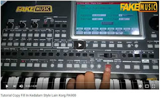 Tutorial Copy Fill In Kedalam Style Lain Korg PA900