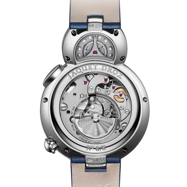 The movement of the Jaquet Droz Lady 8 Flower, new 2018 model